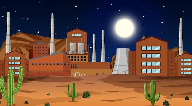 자연 속에서 서부 사막을 테마로 한 장면