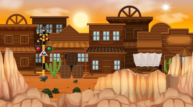 Western desert themed scene in nature
