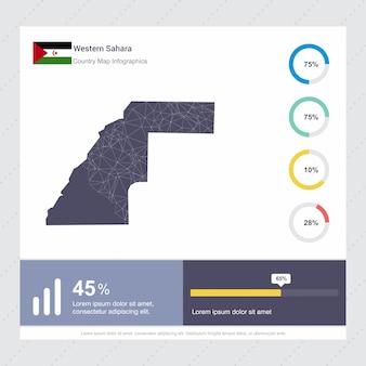 Western saharaマップ&フラグinfographicsテンプレート