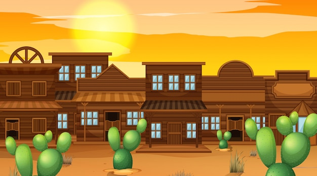 A western saloon background