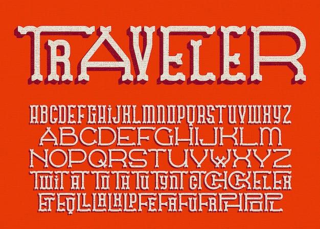 Векторный шрифт в западном стиле