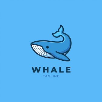 Whale cartoon logo