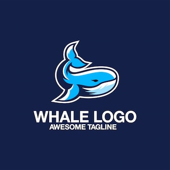Whale logo design awesome inspiration inspirations