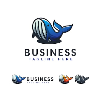 Whale logo template