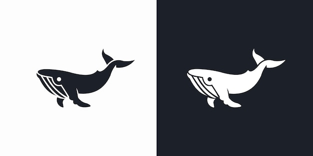 クジラのロゴベクトルアイコンイラスト