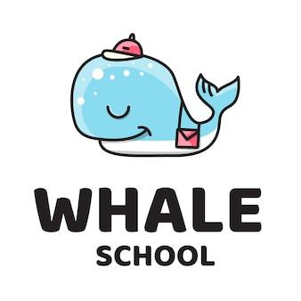Китовая школа cute logo