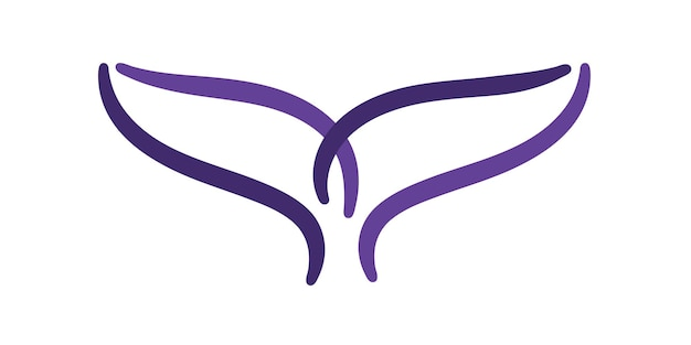 Whale tail the fish logo