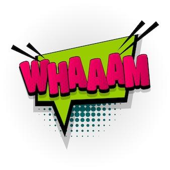 Wham звук комикс текстовые эффекты шаблон комиксов речи пузырь полутоновый стиль поп-арт