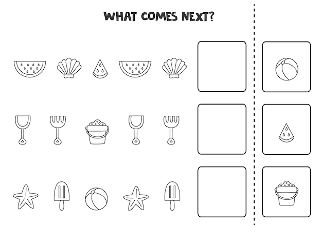 What comes next game with black and white summer elements.