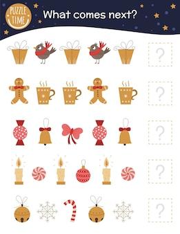 Что будет дальше. рождественские задания для детей дошкольного возраста с милыми персонажами.