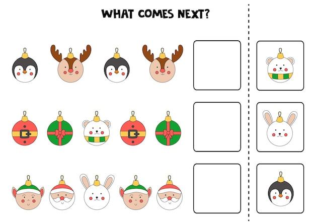 Что будет дальше игра с милыми рождественскими шарами.