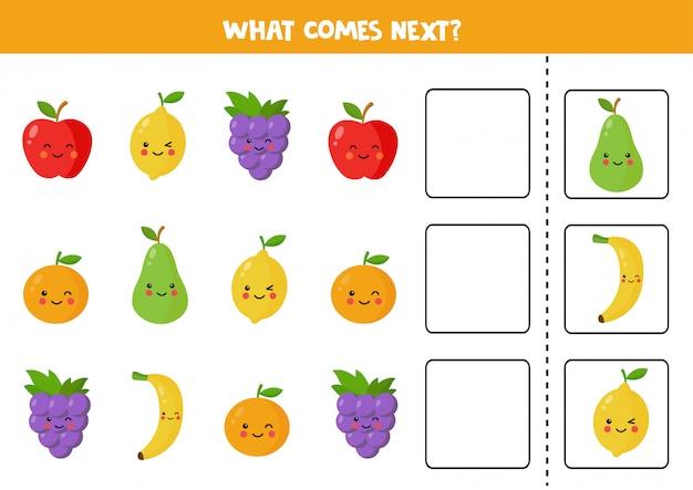 귀여운 카와이 열매와 함께 다음에 오는 것은 무엇입니까?