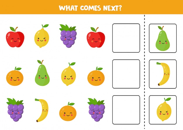 What comes next with cute kawaii fruits.