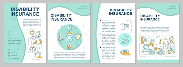 What is disability insurance brochure template.