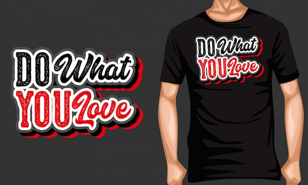 Do what you love lettering typography