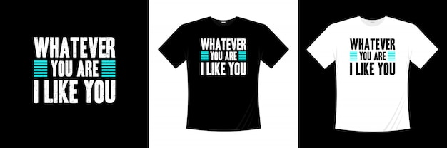 タイポグラフィtシャツのデザインが好き