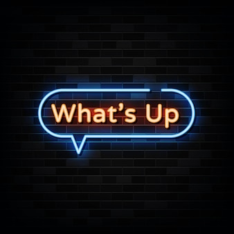 Whats up neon signs   template neon style