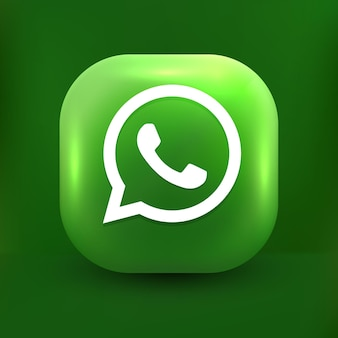Whatsapp chat icon 3d chat bubbles on white tranparent background