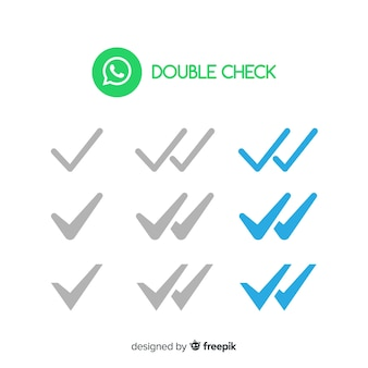 Whatsapp double check design
