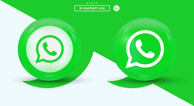 モダンなスタイルのソーシャルメディアロゴのwhatsappロゴタイプ