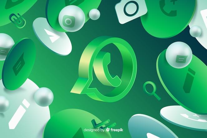Абстрактный фон с логотипом whatsapp