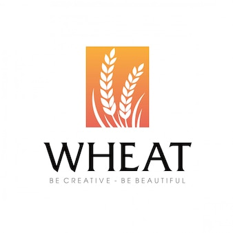 Wheat agriculture logo