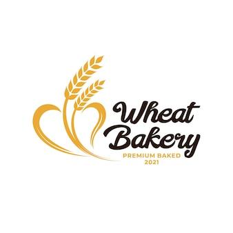 Логотип хлебобулочных изделий пшеницы. логотип сельского хозяйства пшеницы и риса