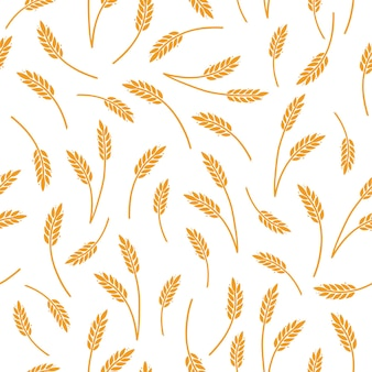 Wheat barley rice pattern for cereal