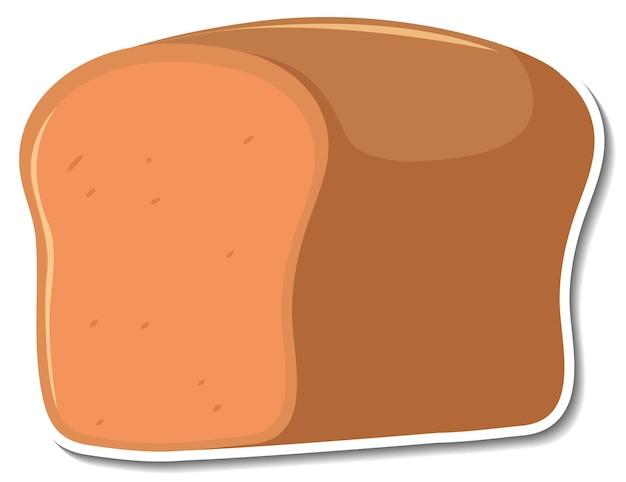 Wheat bread sticker on white background