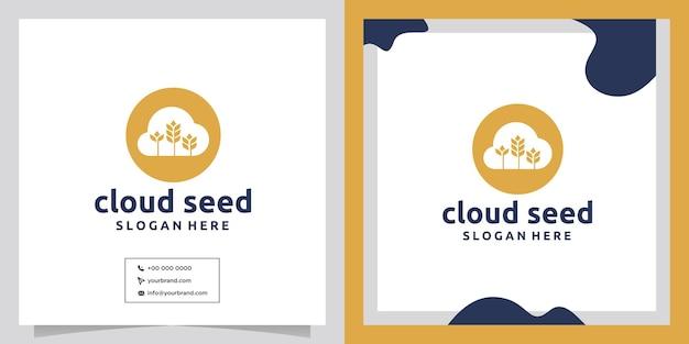 Дизайн логотипа облако пшеницы