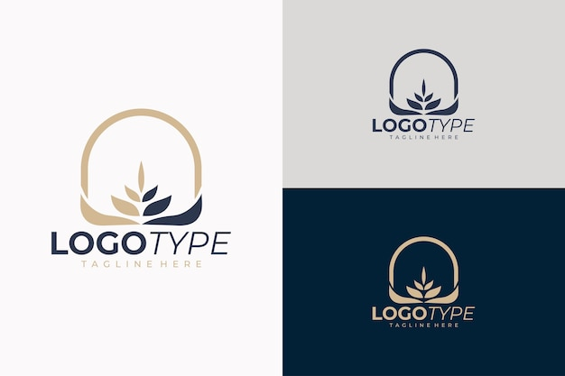 Wheat grain logo icon isolated