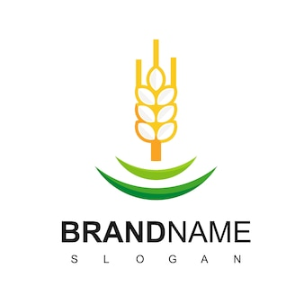 Wheat logo for bread or organic product