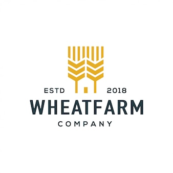 Wheat logo design vector.