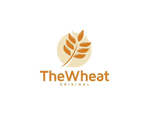 小麦のロゴイラストデザインテンプレート