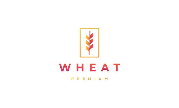 Минимальный дизайн логотипа пшеницы векторные иллюстрации