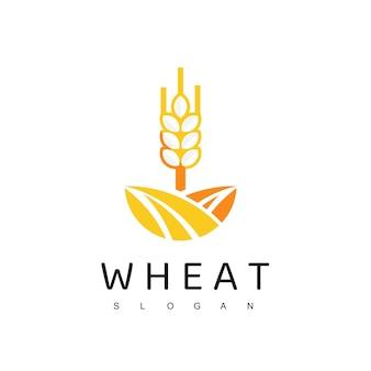 Wheat logo, organic food symbol