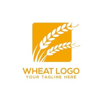 小麦のロゴテンプレート