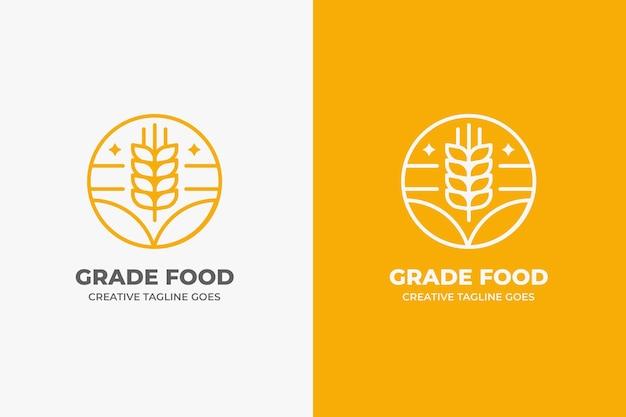 小麦オーガニック健康食品高級ロゴ