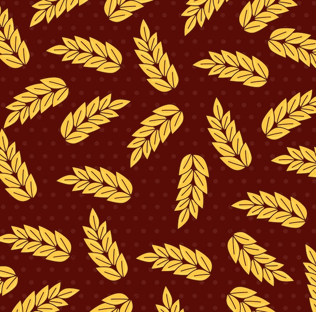 Wheat spikes, spikes collection background