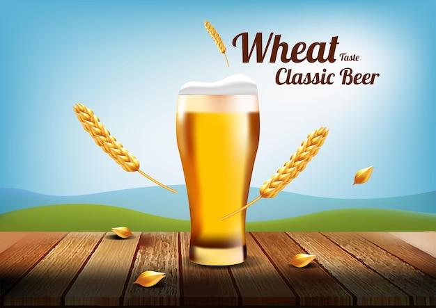 Wheat taste classic beer