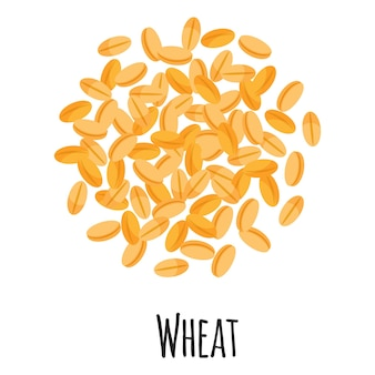 Wheat for template farmer market design, label and packing. natural energy protein organic super food.