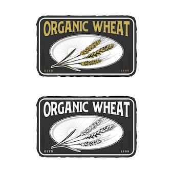 Wheat vintage logo