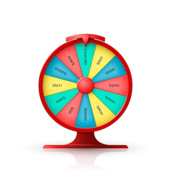 Wheel of fortune. 3d object isolated on white background