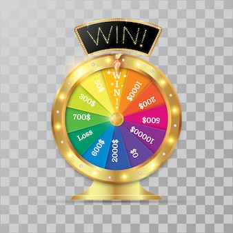 Wheel of fortune 3d object.