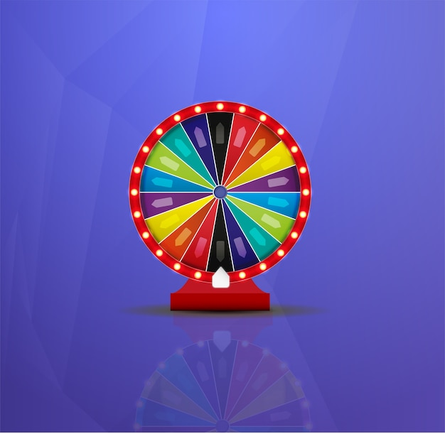 Wheel of fortune lottery luck illustration. casino game of chance.