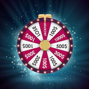 Wheel of fortune, lucky background.  illustration