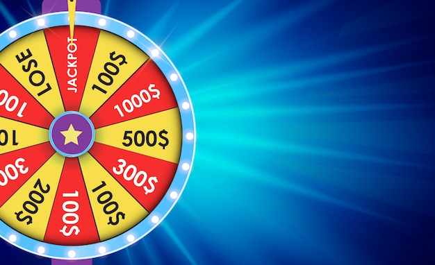 Wheel of fortune, lucky background. vector illustration