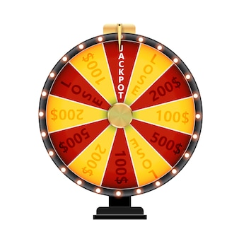 Wheel of fortune, lucky icon.  illustration