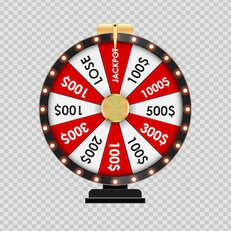 Wheel of fortune, lucky icon on transparent background. vector illustration eps10