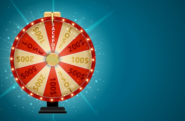 Wheel of fortune, lucky icon with place for text.  illustration